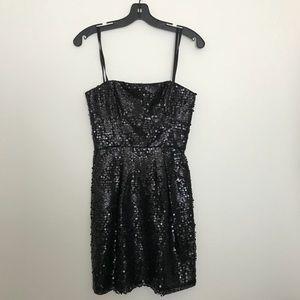 BCBG Black Mini sequin Dress Size 2 Petite
